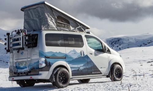 Nissan демонстрирует очаровательный крохотный концепт-кар e-NV200 Winter Camper